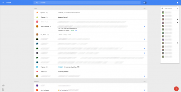 Main Interface of Inbox