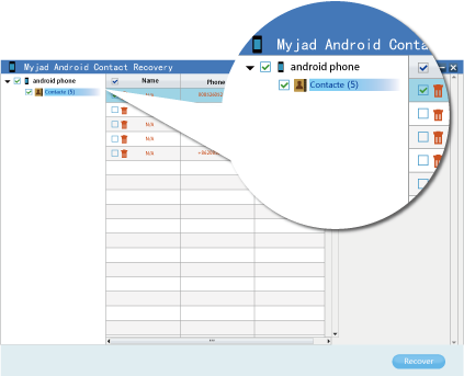 Myjad Android Contact Recovery Software