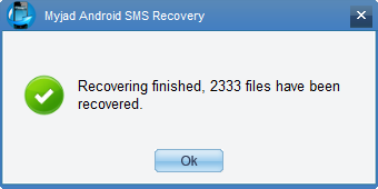 Finish Android SMS Recovery