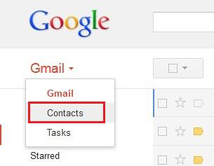 gmail restore contacts android