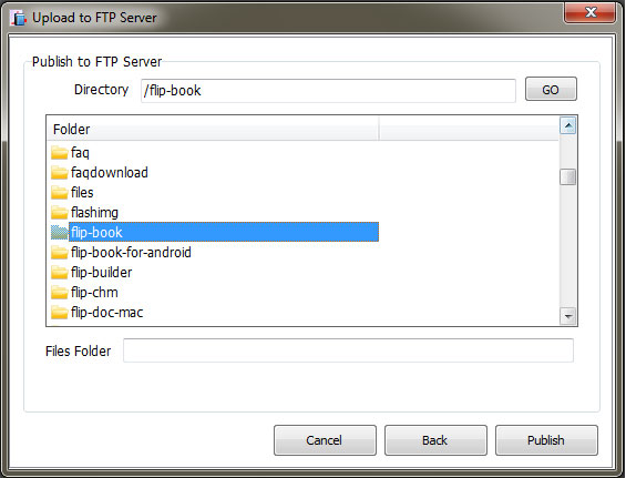 Flipbook Directory to FTP