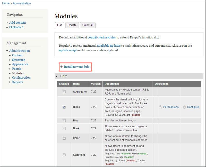 Install New Drupal Module