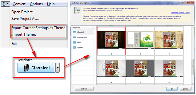 Template of Themes