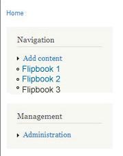 View Drupal Flipbook
