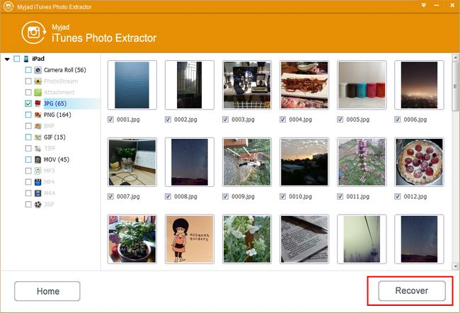 Select Recoverable Photos for iPhone
