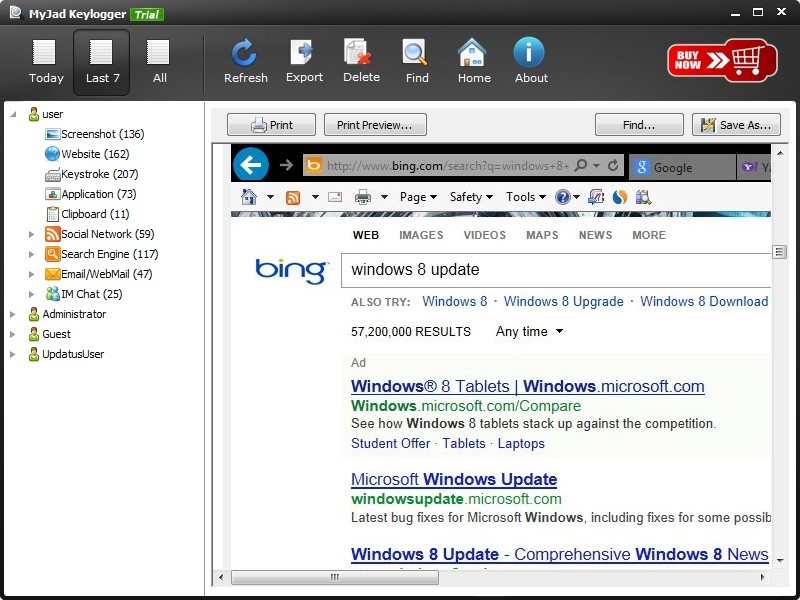 Record Bing Search Result