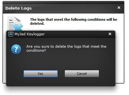 Delete Logs Confirmation