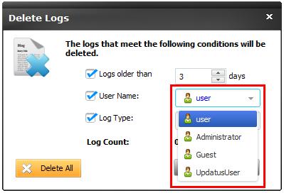 Delete User Logs