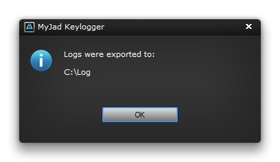 Export Monitored Logs to PC