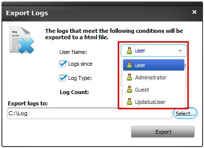 Logs User Name