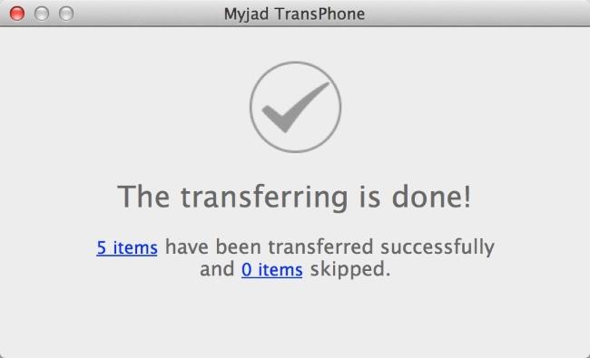 Finish the Transferred Process