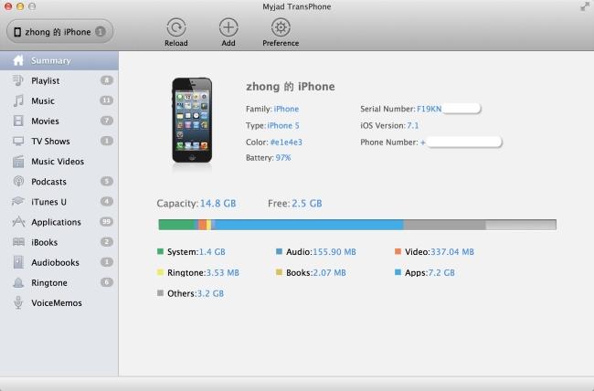 Scan iPhone Music Files on Mac